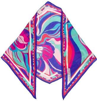 Emilio Pucci Rivera Print Rhombus Scarf