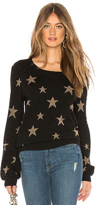 Chaser Gold Star Intarsia Pullover Sweater