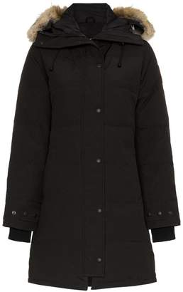 Canada Goose Shelburne coyote fur trimmed feather down parka