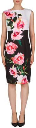 Joseph Ribkoff Floral Back-Zip Dress