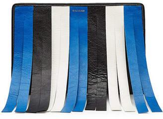 Balenciaga Fringed Stripe Leather Pouch