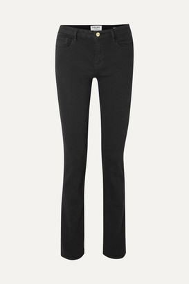 Frame Le Mini Boot Mid-rise Bootcut Jeans - Black