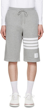 Thom Browne Grey Classic Lounge Shorts $550 thestylecure.com