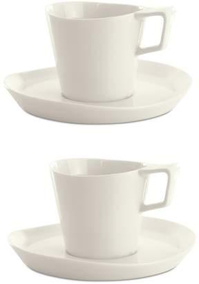 Berghoff Eclipse Tea Cup & Saucer 4-Piece Set