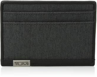 Tumi Men's Alpha ID LockTM Slim Card Case Wallet - Anthracite/Black