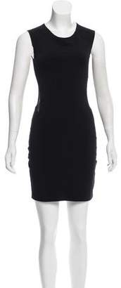 Elizabeth and James Mesh-Accented Mini Dress