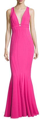 ZAC Zac Posen Ariana Sleeveless Ponte Bodycon Gown, Pink $690 thestylecure.com