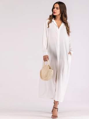 Shein Button Through Maxi Shirt Dress