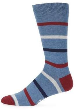 Black & Brown Black Brown Four-Tone Stripe Socks