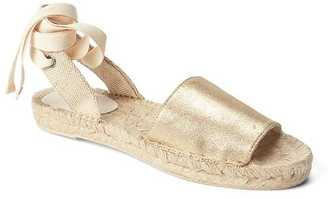 Metallic lace-up espadrille $49.95 thestylecure.com