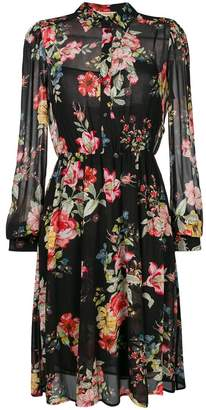 Twin-Set floral cinched shirt dress