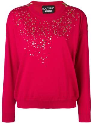 Moschino long-sleeve fitted sweater