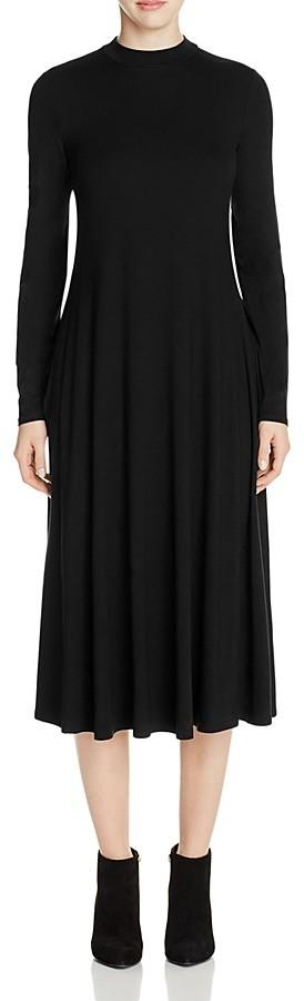 Eileen Fisher Mock Neck Midi Dress
