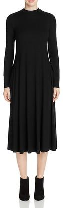 Eileen Fisher Mock Neck Midi Dress $218 thestylecure.com