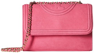 Tory Burch - Fleming Snake Convertible Small Shoulder Bag Shoulder Handbags $495 thestylecure.com