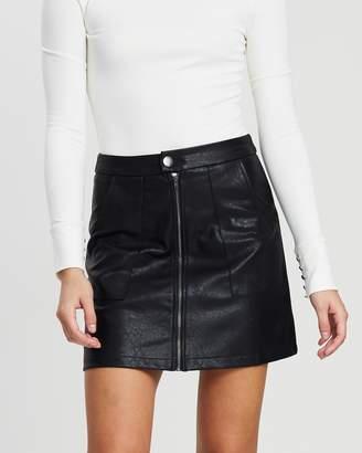Atmos & Here Zip Front Mini Skirt