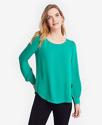 Ann Taylor Scoop Neck Blouse