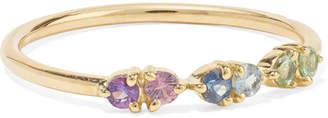 WWAKE 14-karat Gold Multi-stone Ring - 6