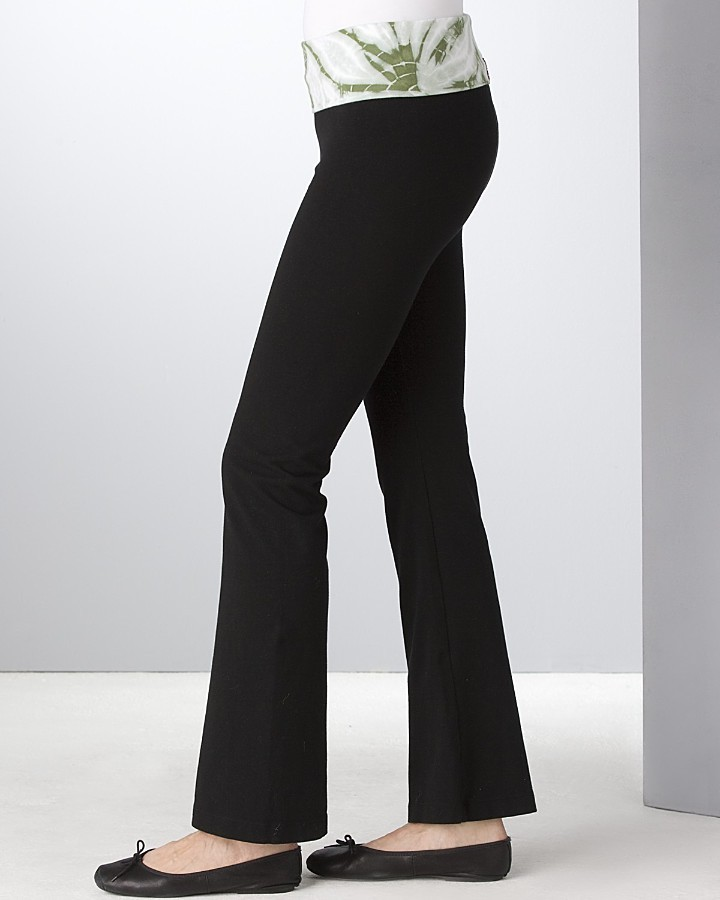 Hard Tail Tie Dye Foldover Waistband Pants