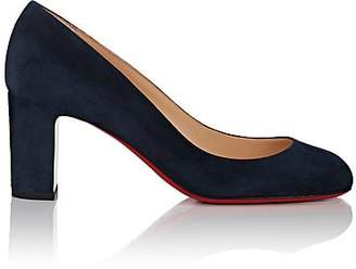 Christian Louboutin Women's Cadrilla Suede Pumps - Navy