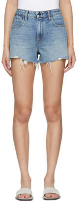 Alexander Wang Indigo Denim Bite Shorts