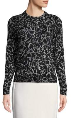 Lord & Taylor Plus Floral Cotton Cardigan