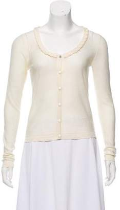 Sonia Rykiel Sonia by Ruffled Knit Cardigan