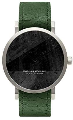 South Lane 'SIGNATURE ALPHA' Quartz Stainless Steel and Leather Casual Watch