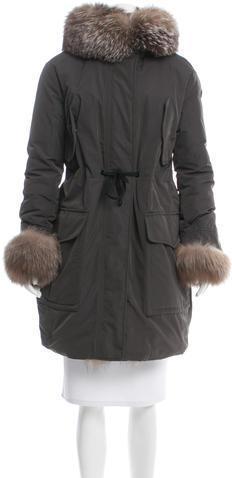 MonclerMoncler Verteuil Fur-Trimmed Parka