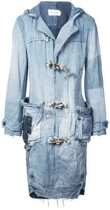 Greg Lauren mid-length denim jacket