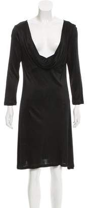 John Galliano Cowl Neck A-Line Dress