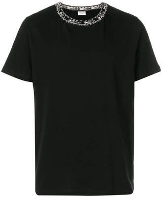 Saint Laurent contrast-collar T-shirt