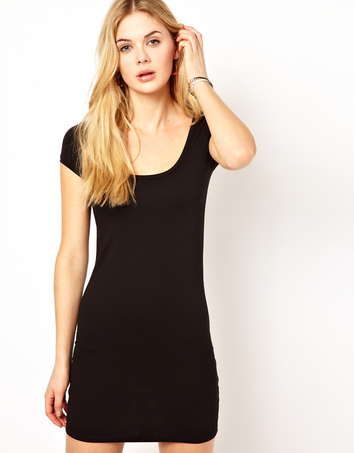 Vila Body-Conscious Dress with Short Sleeve