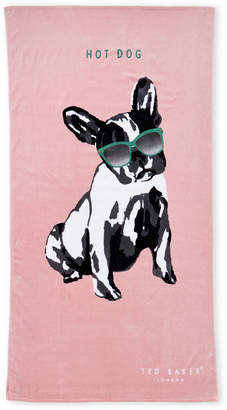 Ted Baker Pink Hot Dog Beach Towel