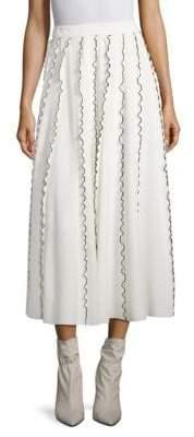 Derek Lam Ruffle Midi Skirt