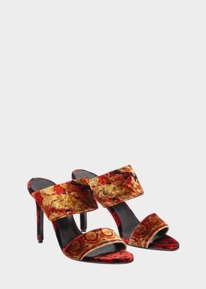 Versace Wild Barocco Print Sandals