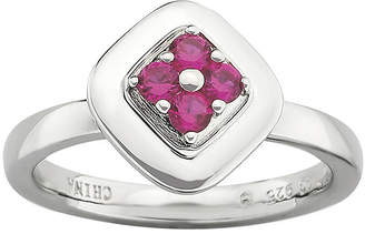 JCPenney FINE JEWELRY Personally Stackable Lab-Created Ruby Ring