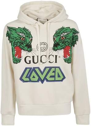 5c3816697cc White Gucci Hoodie - ShopStyle