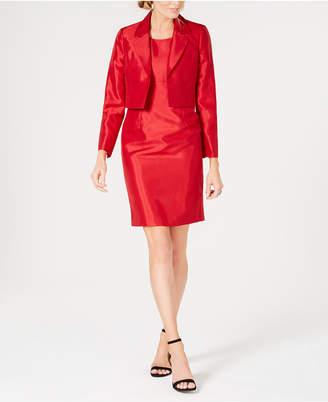 Le Suit Shiny Flyaway Jacket & Dress Suit