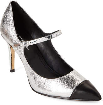 Marc Fisher Silver Deepti Mary Jane Metallic Pumps