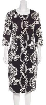 Samantha Sung Printed Midi Dress