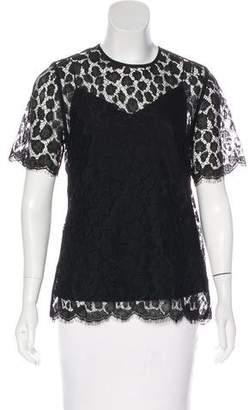 Max Mara Lace Short Sleeve Top w/ Tags