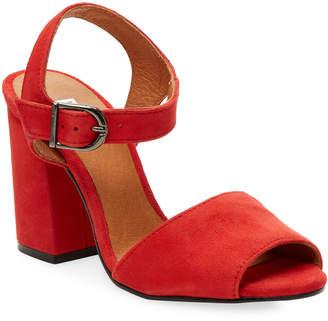 Renvy Brocade Block Heel Sandal