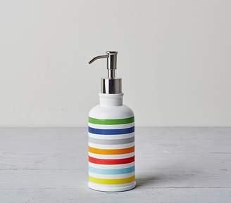 Pottery Barn Kids Rainbow Stripe Bath Accessories, Soap Dispenser