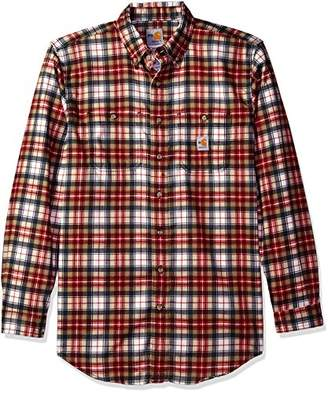 Carhartt Men's B&t Flame Resistant Classic Plaid Long Sleeve Woven Shirt