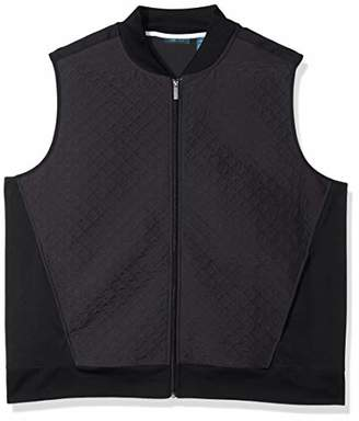 Perry Ellis Men's Big & Tall Quilted Zip-Front Vest