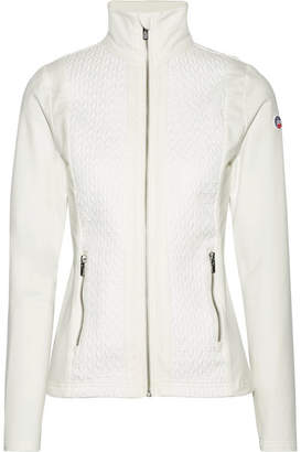 Fusalp - Tracy Matelassé And Stretch-jersey Top - White