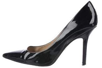 Charles David Patent Leather Pointed-Toe Pumps