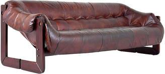One Kings Lane Vintage Percival Lafer Leather Sofa - Castle Antiques & Design