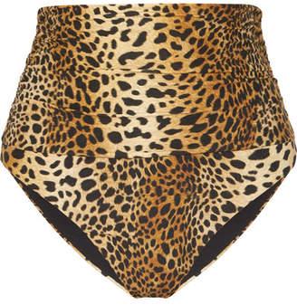 Melissa Odabash Lyon Leopard-print Bikini Briefs - Tan